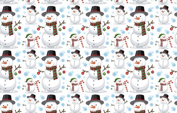 Картинка украшения, фон, узор, Новый Год, Рождество, снеговик, Christmas, background, pattern, New Year, snowman, decoration, xmas, …