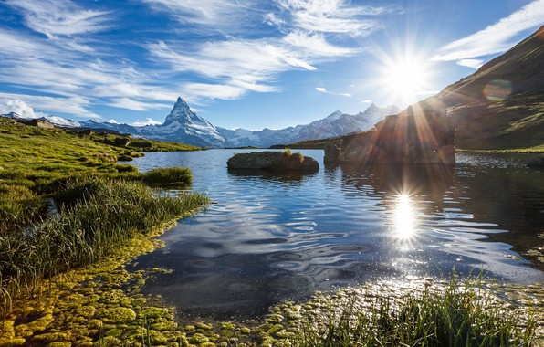 Картинка солнце, пейзаж, день