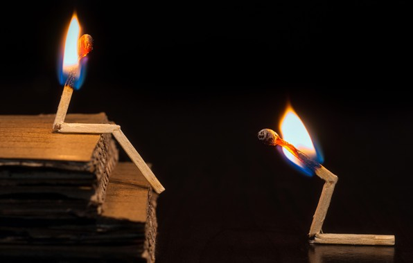 Картинка фон, огонь, спички