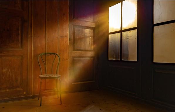 Картинка свет, окно, стул
