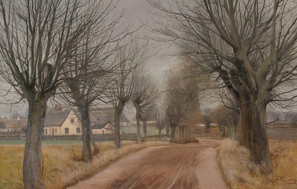 Картинка Зеландия, Zealand, датский живописец, 1898, Laurits Andersen Ring, Лауриц Андерсен Ринг, Danish painter, Государственный музей …