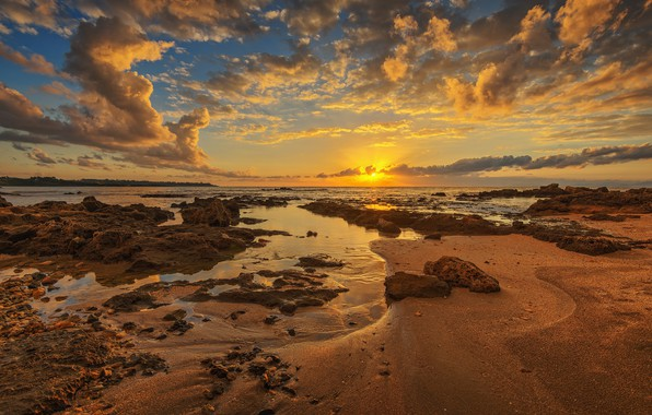 Картинка закат, побережье, Греция, Skafidhia