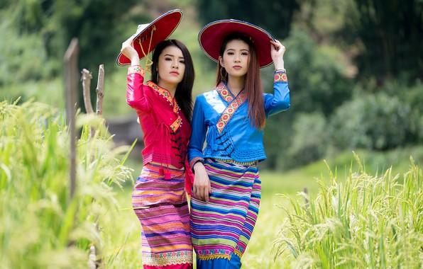 Картинка девушки, азиатки, боке