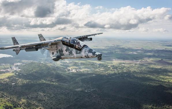 Картинка облака, самолет, легкий, Африка, ЮАР, штурмовой, Paramount, AHRLAC, Mwari