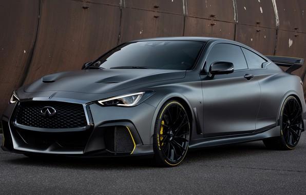 Картинка car, машина, тюнинг, Prototype, Infinity, сбоку, tuning, матовая, спортивная машина, Infiniti Project Black S Prototype, …