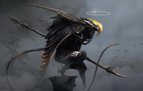Картинка оружие, фантастика, крылья, клюв, арт, sci-fi