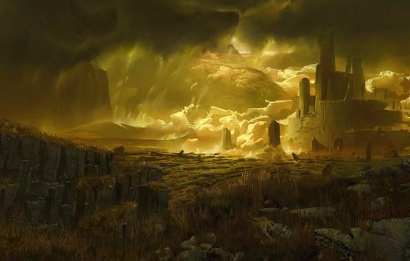 Картинка замок, арт, Elijah, fantasy castle, фЭнтези, McNeal