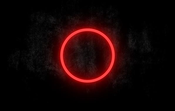 Картинка Dark, Wallpapers, Red circle