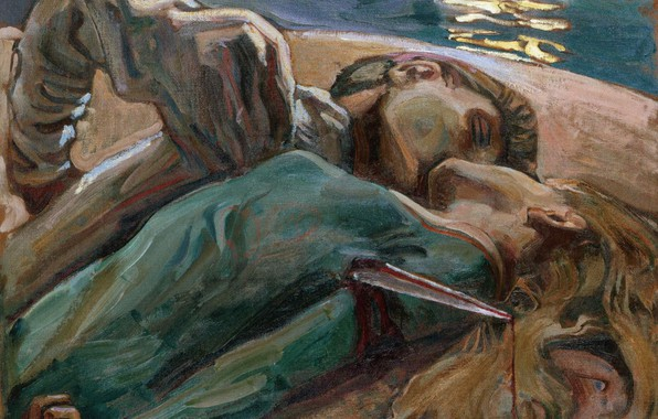 Картинка painting, the lovers, akseli gallen kallela