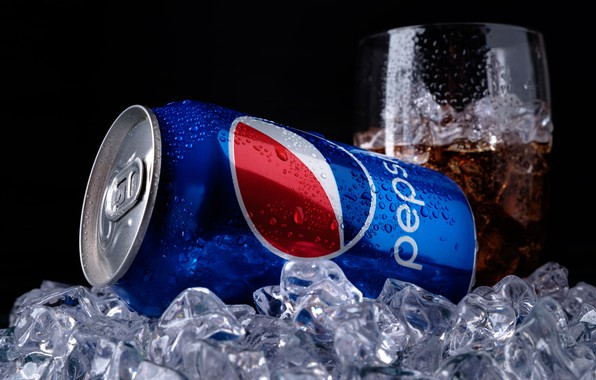 Картинка лед, капли, стакан, банка, ice, напиток, cola, pepsi, кола, drink, газировка, газированный напиток, пепси, pepsi-cola, …