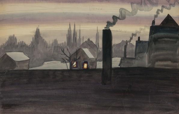 Картинка 1921, Charles Ephraim Burchfield, November Light