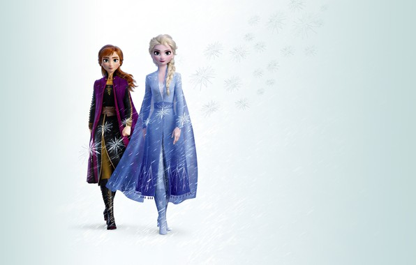 Картинка Frozen, Red, Fantasy, Beautiful, Anime, Winter, Anna, Queen, Snow, Girls, Female, Family, year, Women, Blonde, …