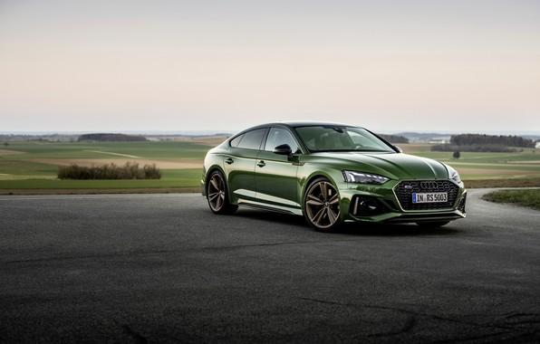 Картинка Audi, стоянка, зелёный, RS 5, 2020, спортбэк, RS5 Sportback