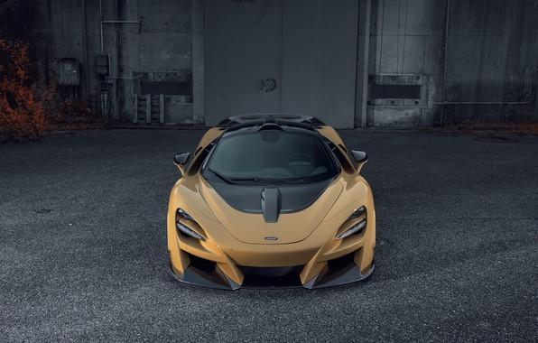 Картинка McLaren, суперкар, вид спереди, 2018, Novitec, N-Largo, 720S
