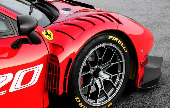 Картинка колесо, Ferrari, спорткар, Evo, GT3, 488, Ferrari 488