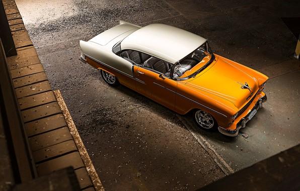 Картинка Orange, Bel Air, White, Chevy, Vintage
