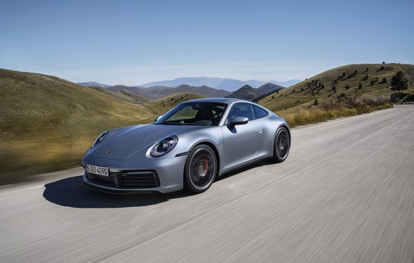 Картинка дорога, купе, 911, Porsche, Carrera 4S, 992, 2019