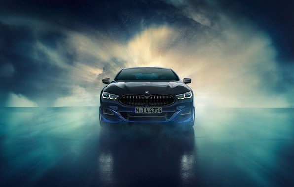 Картинка BMW, вид спереди, Coupe, Night Sky, Individual, 8-Series, 2019, M850i, XDrive, Night Sky Edition
