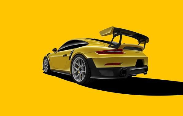 Картинка 911, Porsche, GT2, Yellow, VAG