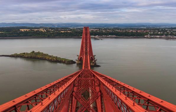 Картинка Scotland, United Kingdom, Forth Rail Bridge, North Queensferry