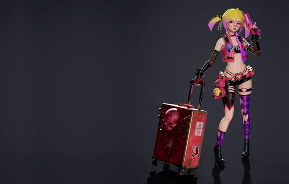 Картинка оружие, аниме, арт, чемодан, Royal blood, Overhit - Blossom