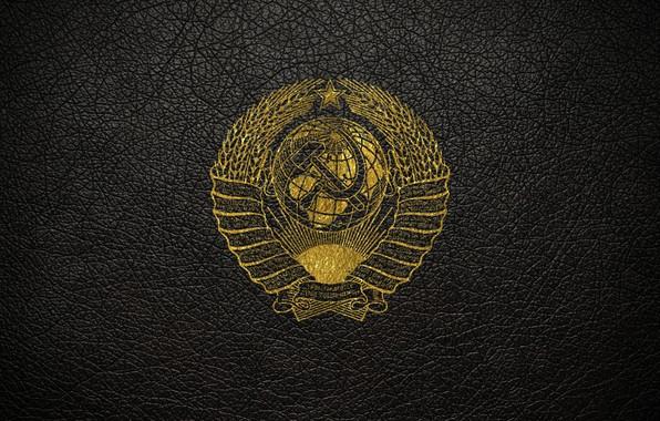 Картинка кожа, ссср, золотой, герб, герб ссср