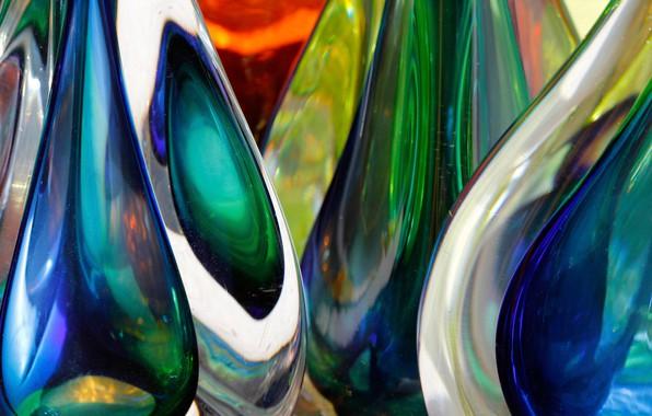 Картинка стекло, макро, цветное