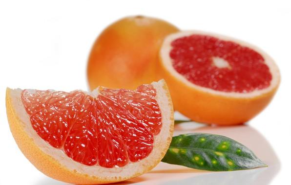 Картинка макро, долька, цитрус, грейпфрут, срез