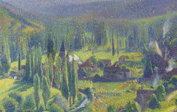 Картинка пейзаж, картина, Анри-Жан Гильом Мартин, Henri Matrin, Зелёная Долина в Лабастид-дю-Вер