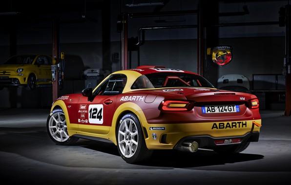 Картинка ралли, Rally, Fiat, фиат, Abarth, 124