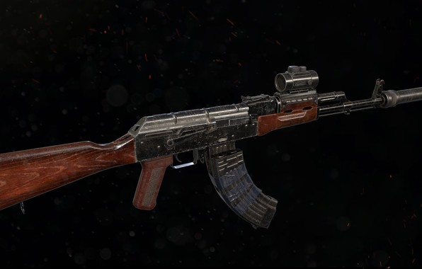Картинка рендеринг, оружие, gun, weapon, render, custom, Калашников, штурмовая винтовка, assault Rifle, Kalashnikov, акм, ак, ak, …