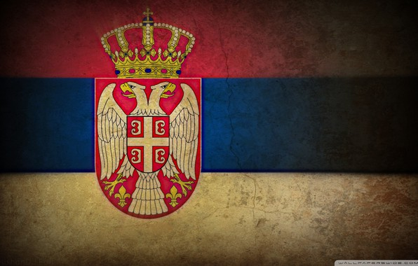 Картинка корона, щит, Ср̀бија, трешина