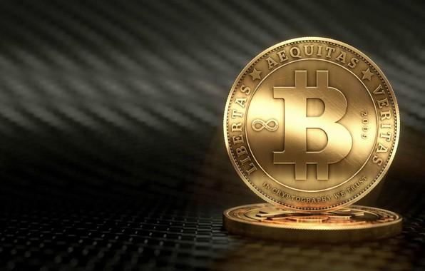 Картинка размытие, лого, монеты, fon, coins, bitcoin, биткоин