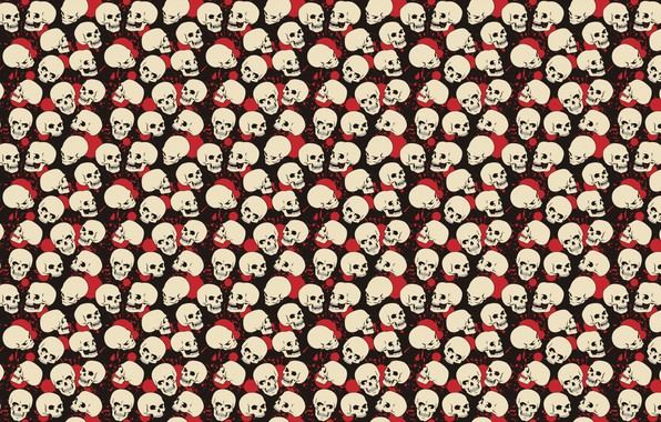 Картинка белый, красный, поза, черный, кровь, краска, череп, пятна, red, white, black, позы