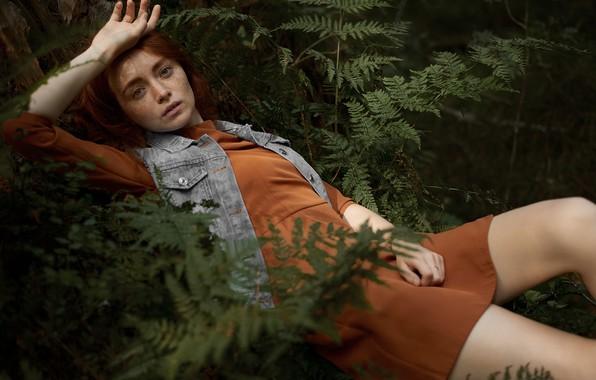 Картинка девушка, веснушки, ножки, Макс Fiyah
