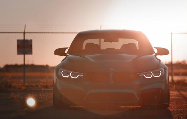 Картинка BMW, Light, Blue, Sunset, Evening, Face, F80, Sight, LED