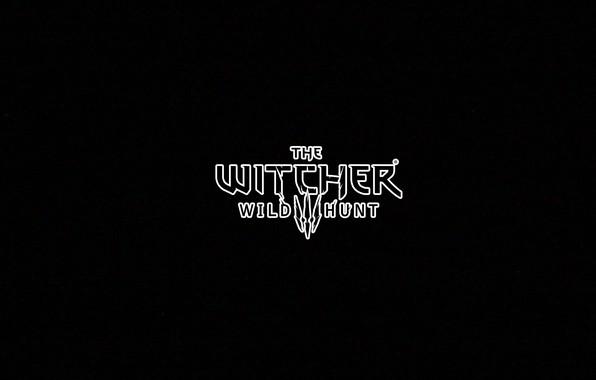 Картинка минимализм, черный фон, ведьмак, witcher 3