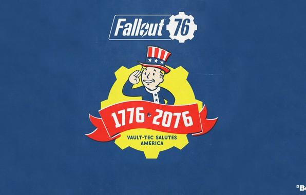 Картинка Fallout, Bethesda Softworks, Bethesda, Bethesda Game Studios, Vault Boy, Vault-Tec, Волт-Бой, Бетезда, Fallout 76, Волт-Тек, ...