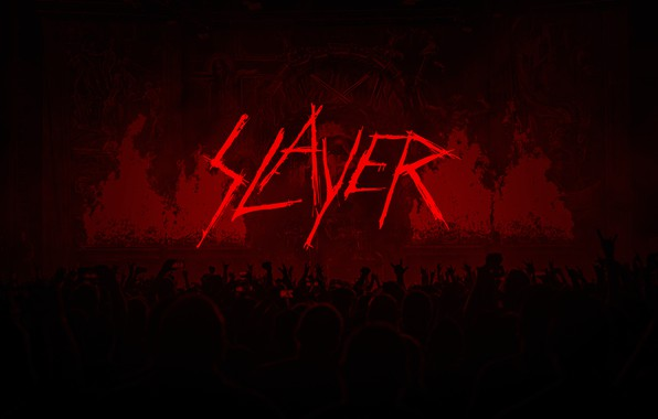 Картинка metal, logo, band, slayer, thrash metal, concert