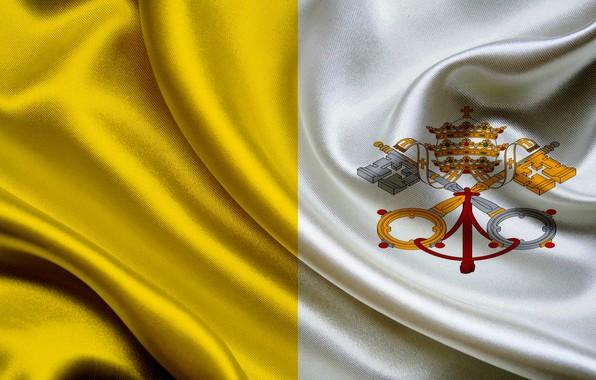 Картинка флаг, герб, fon, flag, vatican, ватикан, coat of arms