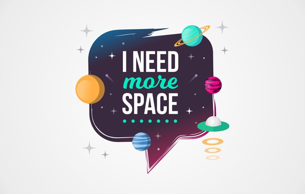 Картинка космос, надпись, рисунок, графика, планета, space
