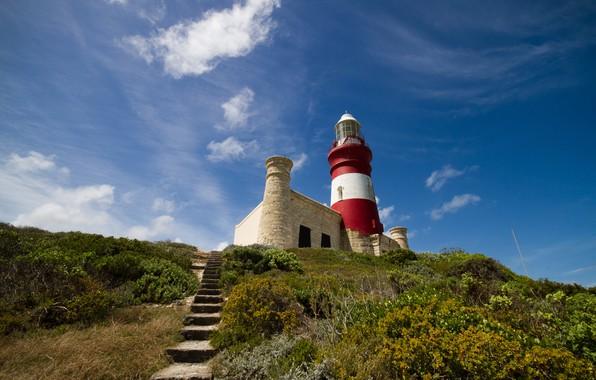 Картинка маяк, холм, лестница, Африка