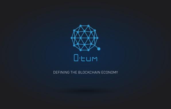 Картинка синий, лого, валюта, fon, cryptocurrency, qtum, Qtum