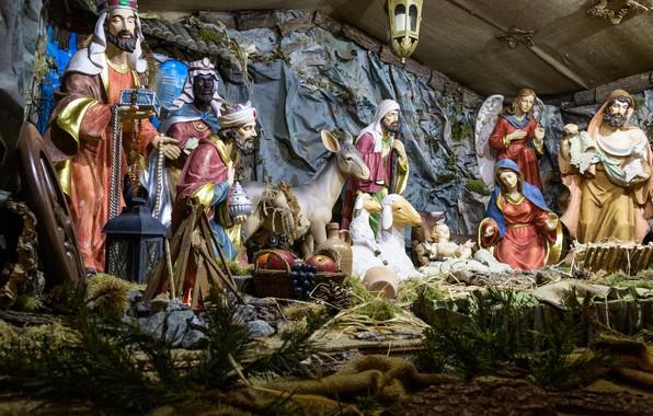 Картинка рождество, рождение, религия, христос, иисус, детская кроватка