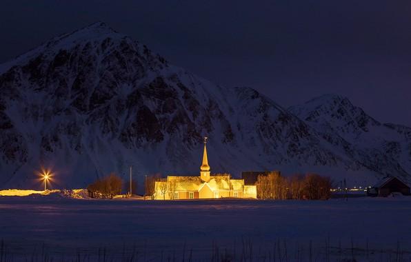 Картинка свет, ночь, храм