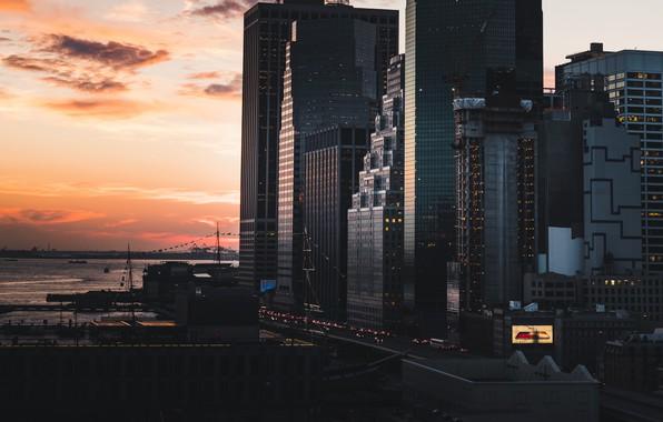 Картинка город, City, USA, США, New York, Manhattan