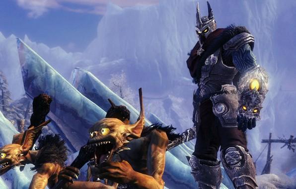 Картинка зима, черти, хозяин, миньоны, бурые, повелитель, Overlord 2
