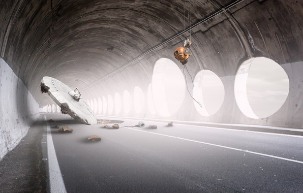 Картинка НЛО, тоннель, tunnel, UFO, Martin Marcisovsky