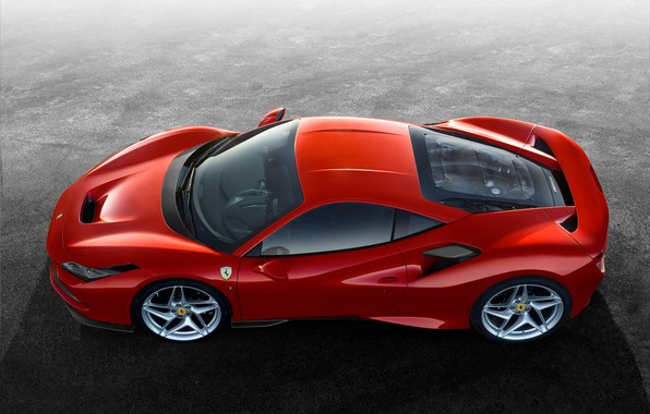 Картинка машина, Ferrari, спорткар, диски, F8 Tribute