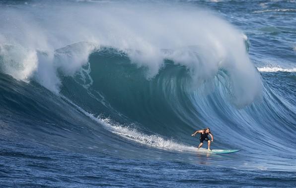 Картинка волна, серфер, wave, surfer, David H Yang